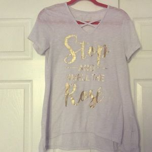 """""""Stop and smell the Rosé"""" t shirt"""